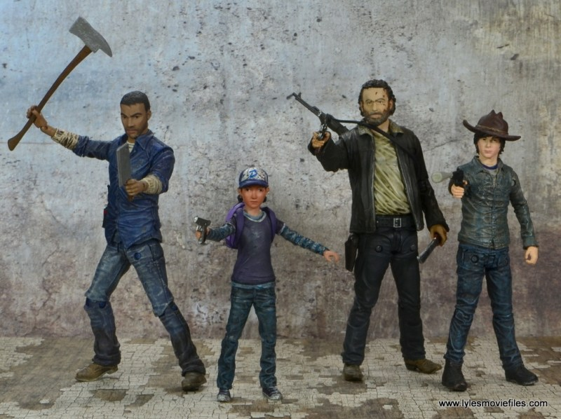 The Walking Dead Telltale Games Clementine figure review - ready for battle with Lee, Rick and Carl Grimes