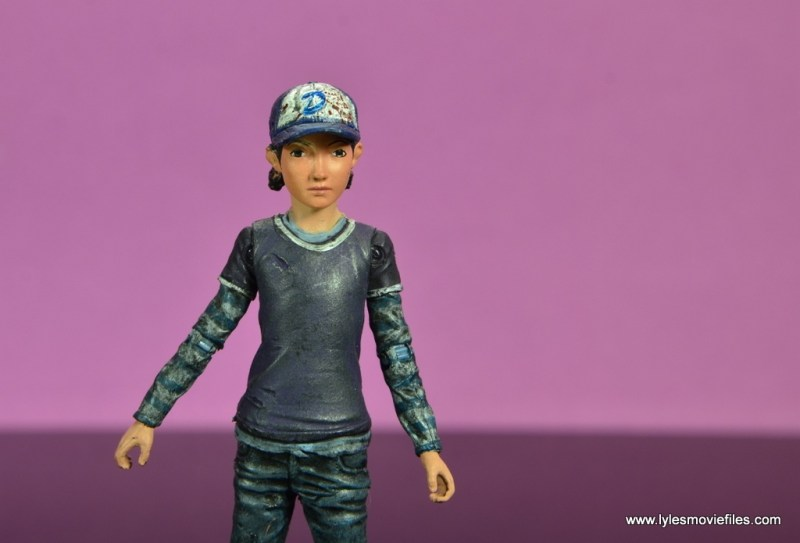 The Walking Dead Telltale Games Clementine figure review -shirt and hat detail