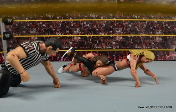 WWE Carmella figure review - leg vice to Nikki Bella