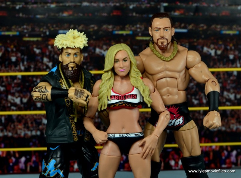 WWE Carmella figure review - with Big Cass and Enzo