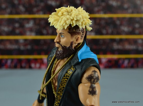 WWE Elite Big Cass and Enzo figure review -Enzo head detail side