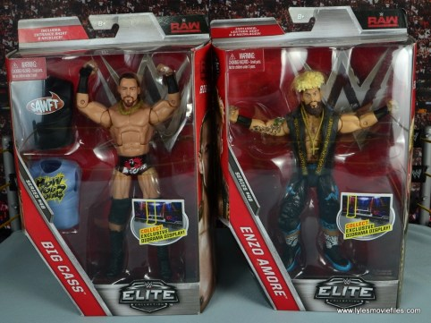 WWE Elite Big Cass and Enzo figure review - front package