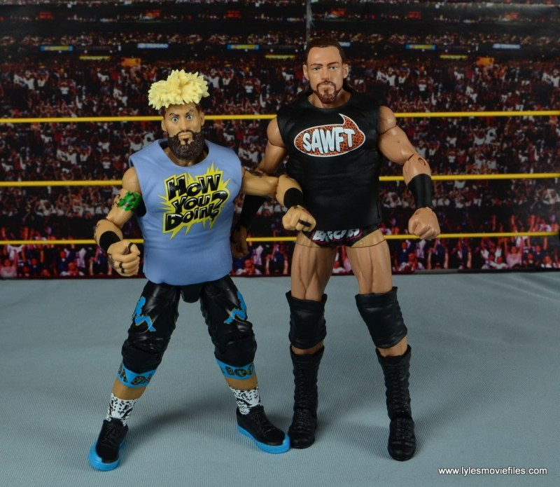 WWE Elite Big Cass and Enzo figure review -with T-shirts on