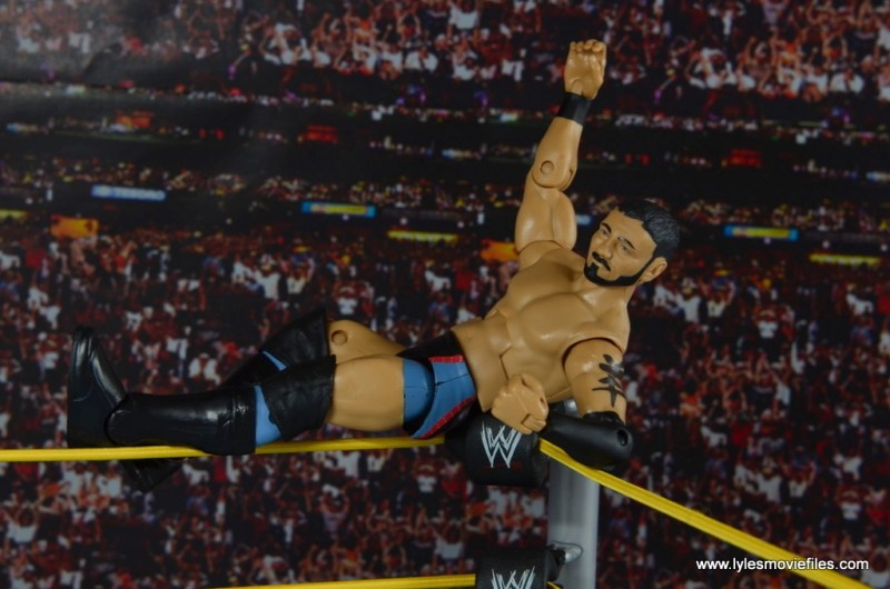 WWE NXT TakeOver Austin Aries figure review -chilling on the ropes