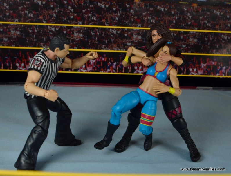 WWE Nia Jax figure review - choking out Bayley