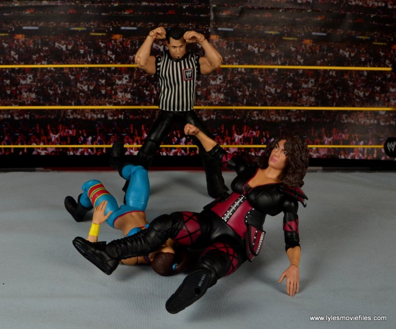 WWE Nia Jax figure review - legdrop to Bayley