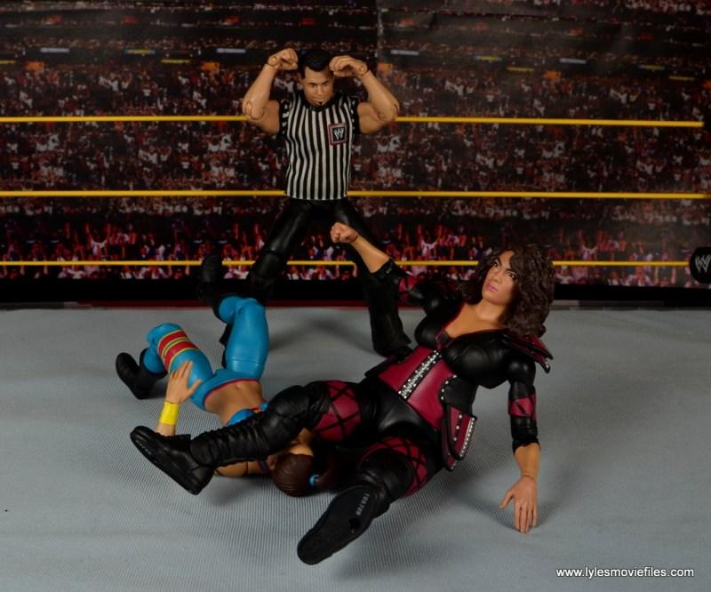 WWE Nia Jax figure review - legdrop to Bayley