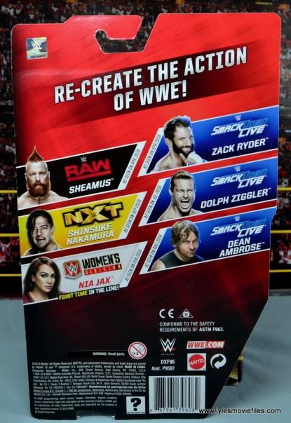 WWE Nia Jax figure review - package rear