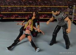 WWE Nia Jax figure review - stretching out Carmella