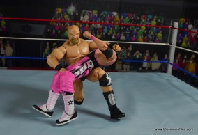 WWE The Warlord figure review -backbreaker to Bret Hart