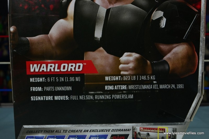 WWE The Warlord figure review -bio