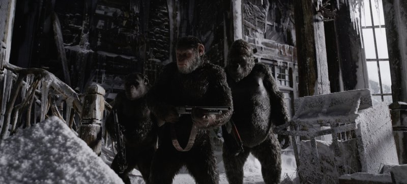 War for the Planet of the Apes review - Rocket, Caesar and Luca