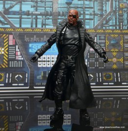 Marvel Legends Avengers Initative figure review -Nick Fury front