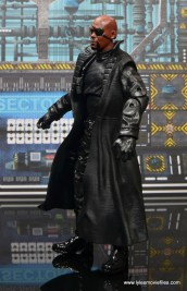 Marvel Legends Avengers Initative figure review -Nick Fury left side