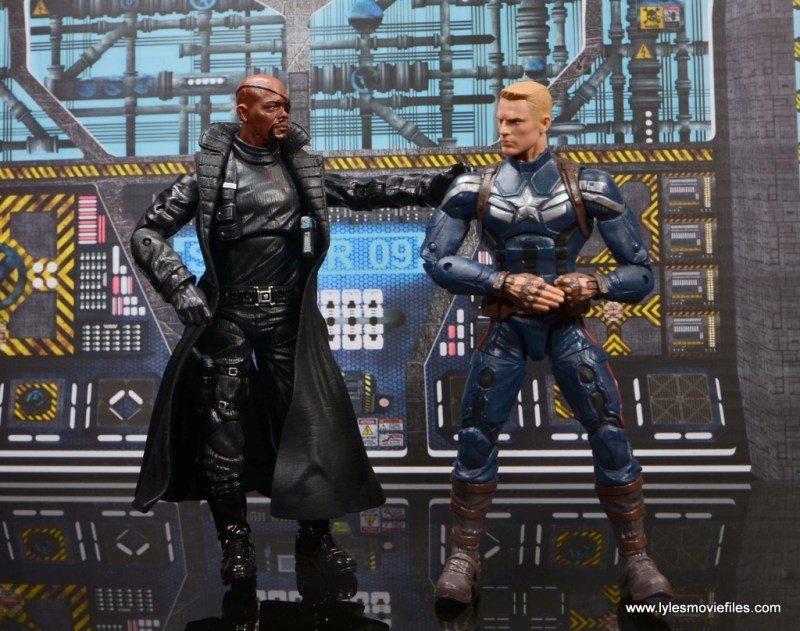Marvel Legends Avengers Initative figure review -Nick Fury with Captain America