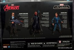 Marvel Legends Avengers Initative figure review -package rear