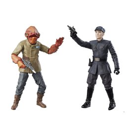 STAR WARS THE BLACK SERIES 6-INCH ADMIRAL ACKBAR & FIRST ORDER OFFICER FIGURE 2-PACK