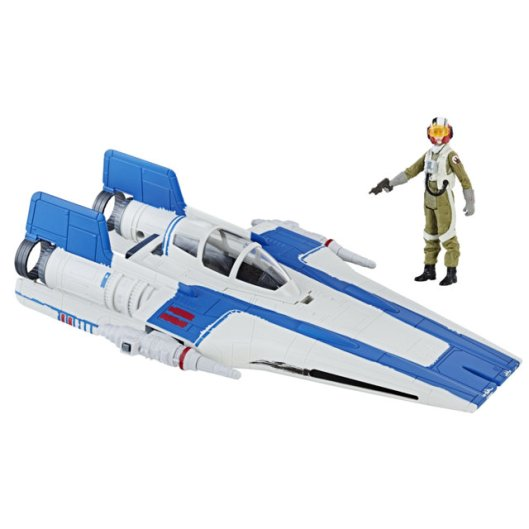 STAR WARS THE LAST JEDI CLASS B VEHICLE Assortment (Resistance A-Wing Fighter & Resistance Pilot Tallie)