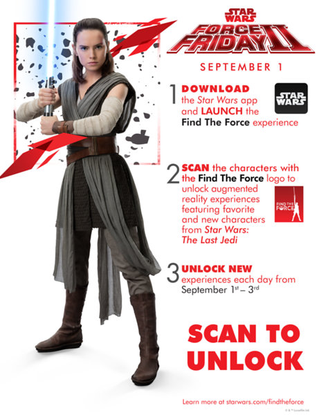 Star Wars Force Friday II 2017 Rey and VR app