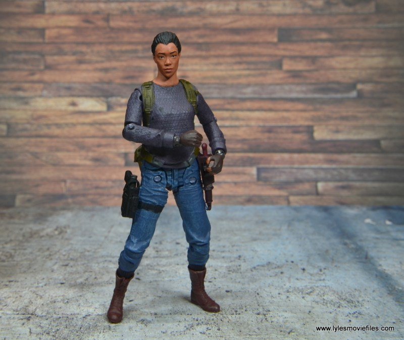 The Walking Dead Sasha figure review -with with gear on