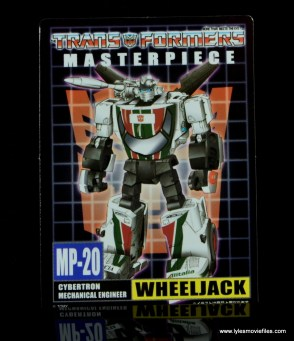 Transformers Masterpiece Wheeljack figure review -bio card front