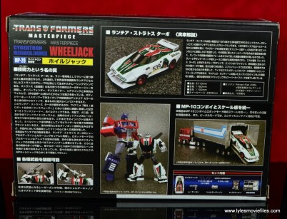 Transformers Masterpiece Wheeljack figure review -package rear