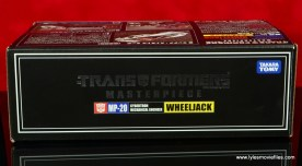 Transformers Masterpiece Wheeljack figure review -package top