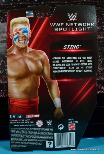 WWE Basic Surfer Sting figure review -package rear