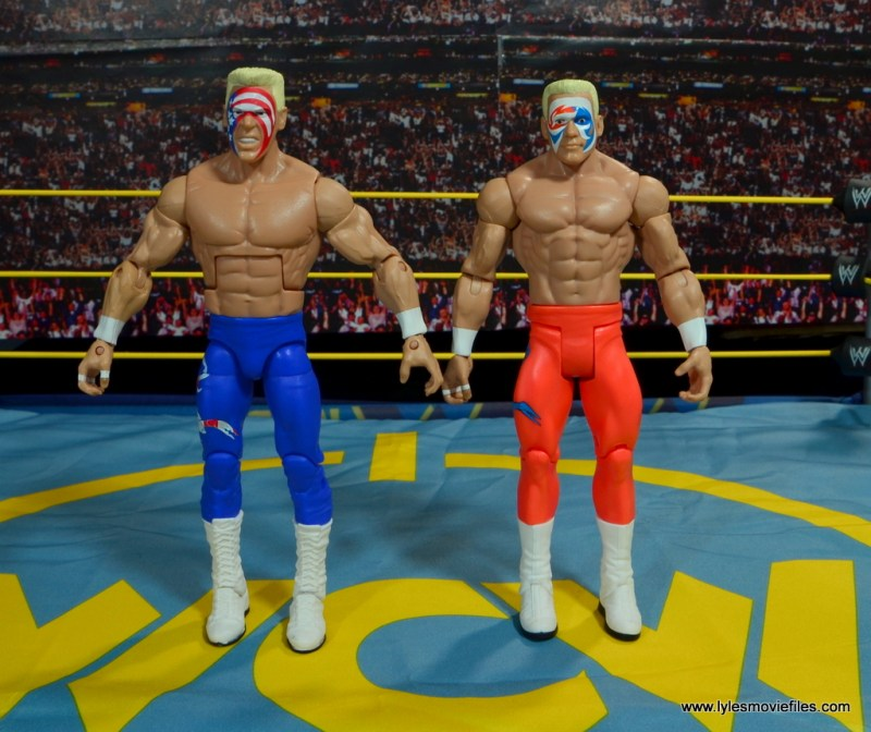 WWE Basic Surfer Sting figure review -with Elite Surfer Sting