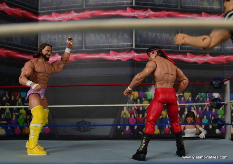 WWE Defining Moments Macho Man Randy Savage figure review - Wrestlemania III showdown with Ricky Steamboat