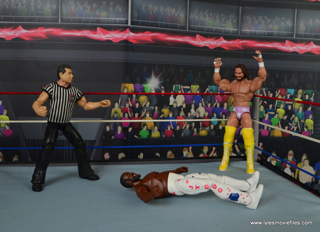 WWE Defining Moments Macho Man Randy Savage figure review -about to jump on JYD