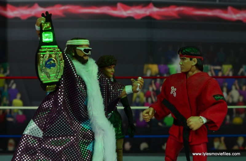 WWE Defining Moments Macho Man Randy Savage figure review - face off with Ricky Steamboat