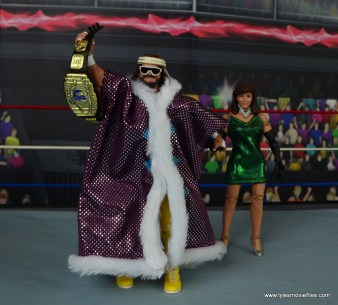WWE Defining Moments Macho Man Randy Savage figure review - grabbing Miss Elizabeth