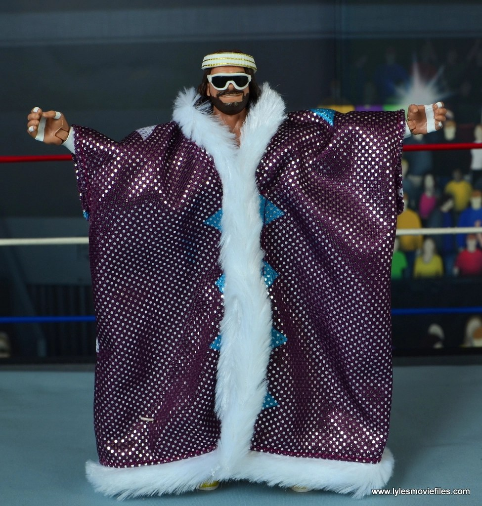WWE Defining Moments Macho Man Randy Savage figure review -robe front