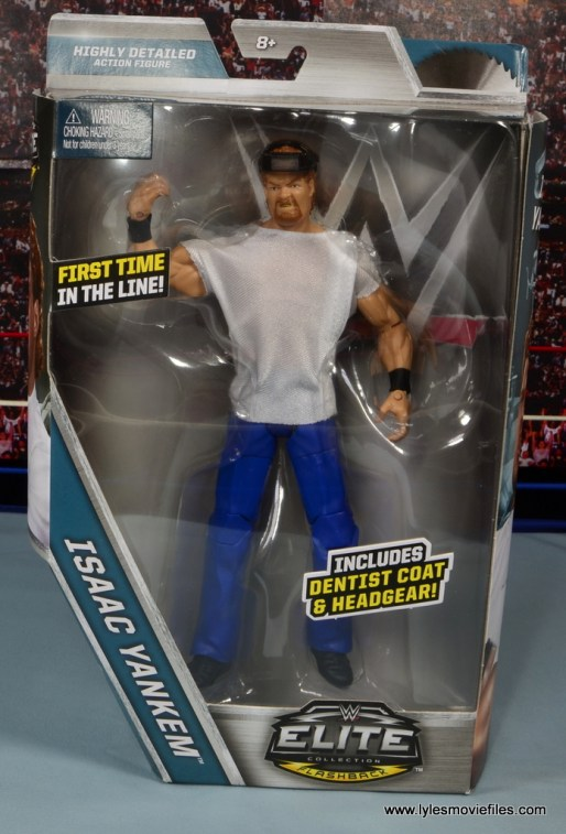 WWE Elite Isaac Yankem figure review -front package