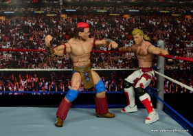 WWE Elite Tatanka figure review - chopping Shawn Michaels