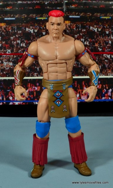 WWE Elite Tatanka figure review - front
