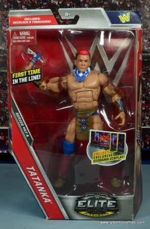 WWE Elite Tatanka figure review - package front