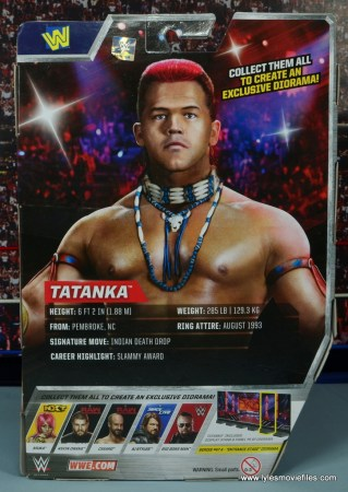 WWE Elite Tatanka figure review - package rear