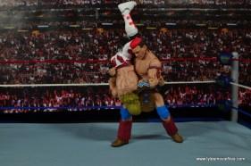 WWE Elite Tatanka figure review - shoulder breaker to HBK