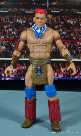 WWE Elite Tatanka figure review - straight with necklace