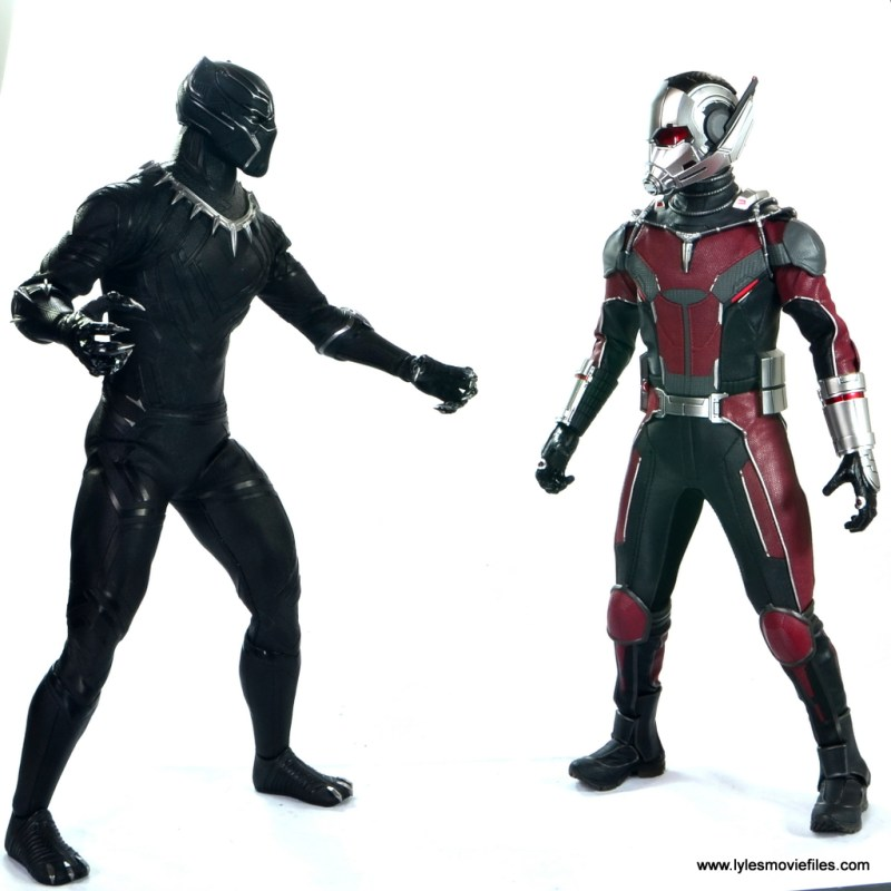 hot toys captain america civil war ant-man figure review -face off with black panther