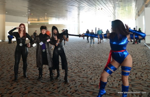 Baltimore Comic Con 2017 cosplay - Jean Grey, Gambit, Rogue and Psylocke