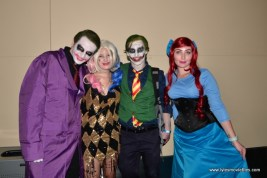 Baltimore Comic Con 2017 cosplay - Joker, Harley, Joker and Anna
