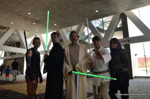 Baltimore Comic Con 2017 cosplay - Rey, Luke, Old Luke, Star Wars Luke and Jyn