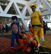 Baltimore Comic Con 2017 cosplay - Sonic, Knuckles and Tails