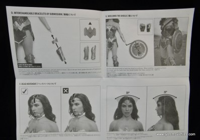 Hot Toys Wonder Woman figure review -instructions 1