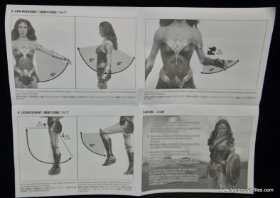 Hot Toys Wonder Woman figure review -instructions 2