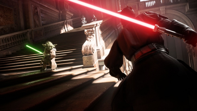 Star Wars Battlefront II Yoda vs Darth Maul