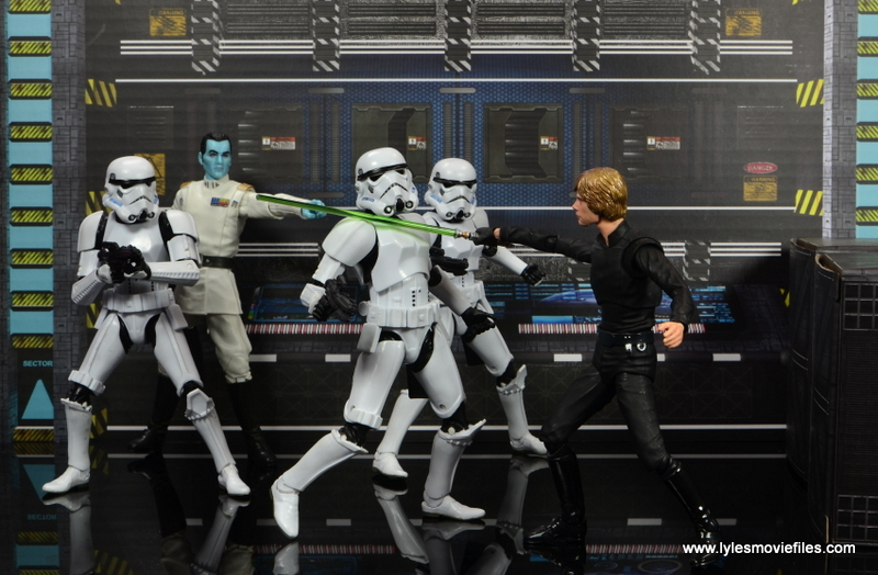 Star Wars The Black Series Grand Admiral Thrawn figure review - Thrawn sends Stormtroopers against Luke Skywalker
